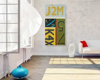 Original Typography Artwork - Colorful Modern Textured Ampersand Wall Art