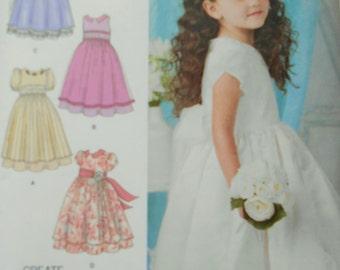 Simplicity 1507 Girls Dress Sewing Pattern Size 4-8. Girls Dress. Flower Girl Dress, Princess Dress, Formal Dress, Party Dress, Bridal Dress