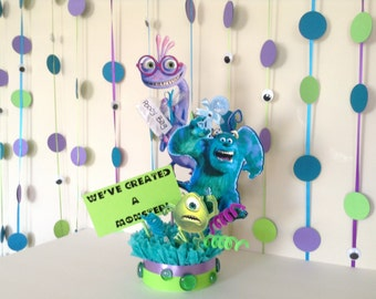 Monster's Inc Baby Shower Party- Monster's Inc Garland- Baby Shower Party- Monster's Inc Baby Shower Decor - Monsters Inc Back Drop