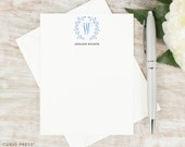 Personalized Notecards / Personalized Stationery / Monogram Stationary Note Cards / Professional Classic Stationery Set // LAUREL MONOGRAM