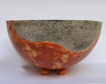 Ceramic glazed bowl