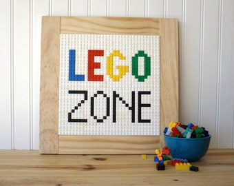 Lego Mosaic Wall Sign