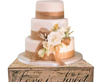 Blush Wedding Country Rustic Wedding Solid Wood Cake Cupcake Stand Beach Wedding Cake Stand Candy Bar