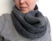 Fair Trade Hand-knit Cowl, Charcoal Gray