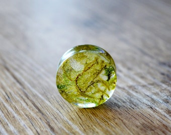 """resin plugs real moss Gauges unique Plugs double flare plugs green floral Plug 4g 2g 0g 00g 1/2"""" 9/16"""" 5/8"""" 11/16"""" 13/16"""" 7/8"""" 15/16"""" 1"""" 2"""""""