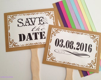 Personalized Save The Date photo props, Engagement signs, Just engaged photo booth signs, Save The Date Signs
