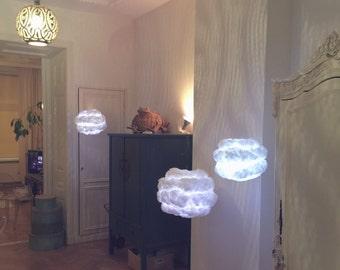 Cloud Light MEDIUM with multicolor LED light and remote control cloud lamp ~ pendant light