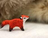 Red Fox Totem Figurine Sculpture, Animal magic spirit amulet