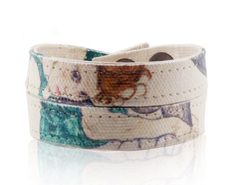 Egon Schiele Wrap Bracelet - Collar Necklace - 'Seated Woman with Legs Drawn Up'