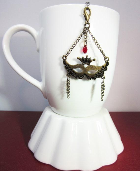 bronze mardi gras tea infuser charm carnival by camillelalune
