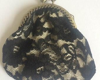 Vintage lace kiss clasp coin purse