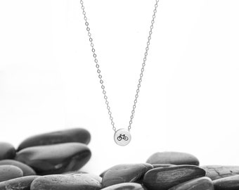 Tiny Sliding Charm Necklace in Recycled Sterling Silver