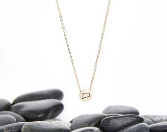 Connecticut Necklace, Connecticut, Connecticut Jewelry, Connecticut Pendant, State Jewelry, Map Jewelry, Connecticut State, N245m