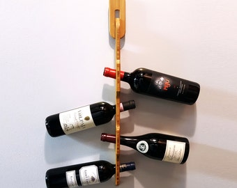 Bamboo Hanging Wine Rack - For Artificial Cork or Screw Cap Bottles