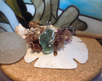 Personalized initials BA etched into this Surf Tumbled natural Seafoam Sea Glass.