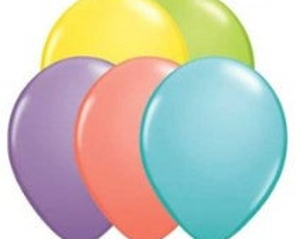 Sorbet Mini Balloon Set of 10 - (Yellow, Blue, Green, Pink and Purple)  (12cm / 5 Inches)