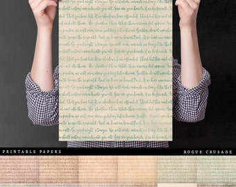 Shakespeare Script - High Quality Vintage Digital Paper For Art Journals, Insert Covers, Planner Dividers, And Paper Crafts