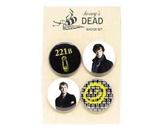 Sherlock Badge/Magnet Set