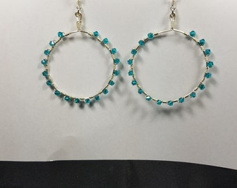Geen Crystal Hoop Earrings