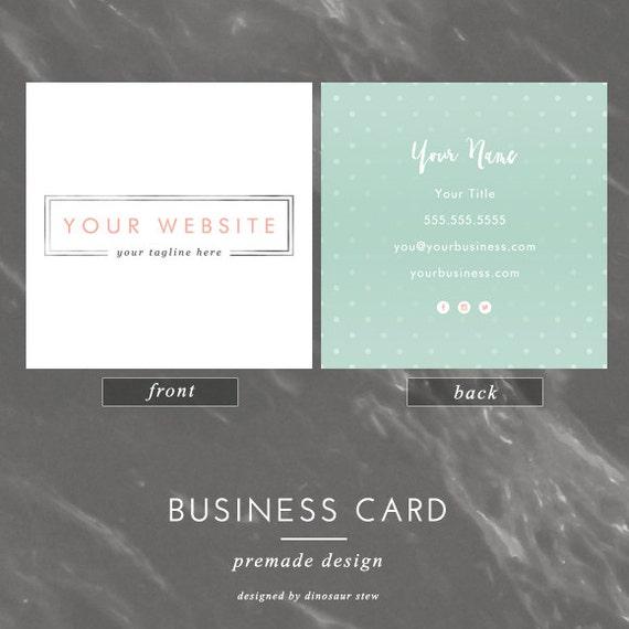 quadratische Business-Karte-Design einfache Silber rosa und