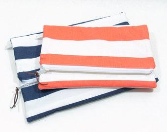 Fold Over Clutch, Large Clutch Bag, Coral Clutch Purse, Fold Over Purse, Zippered Clutch, Handbag Clutch, Bridesmaid Clutch, Vacation Clutch