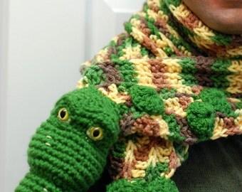 Amigurumi Crochet Crocodile Scarf