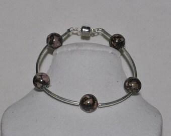 Silver Bracelet Count Your Blessings Jasper #593