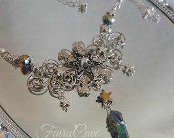 Midnight fairy necklace