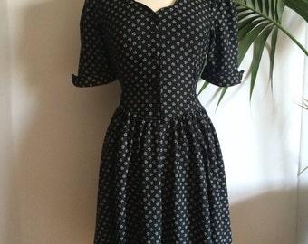 Vintage Black Sweetheart Dress