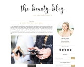 Beauty Blog 2 Premade Blogger Template  - Blogger Theme - Responsive Blogger Template - Minimalist Template - Lifestyle Photographer