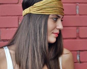 Cinnamon Headband, Dark Beige Headband, Headwrap, Bohemian Headband, Womens Accessories, Womens Turban, Womens Headband, Vintage Headbands