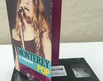 D.A. Pennebaker's Monterey Pop Sony Stereo VHS Hi Fi Music Video Copyright 1968 Monterey International Pop Festival