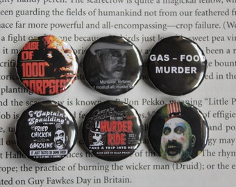 House of 1000 Corpses set of 6 pin-back buttons