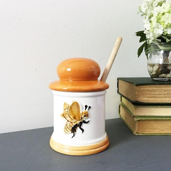 Bee Home Decor: HONEY BEE HONEY Pot Retro Vintage 70's By AnnmarieFamilyTree