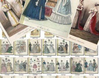 FASHION-1 Collection of 310 Vintage Russian Imperial Dress Lady Woman XIX century Royal Printable Digital Download old template 300 dpi JPG