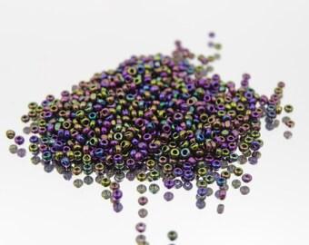 Czech Glass 15/0 Charlotte Purple Iris Seed Bead   5 Grams