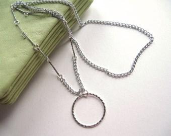 Silver Chain Eyeglass Necklace, Eyeglass Lanyard, Chain Glasses Necklace, Hoop Eyeglass Holder, Eyeglass Chain, Chain Lanyard, Glasses Chain