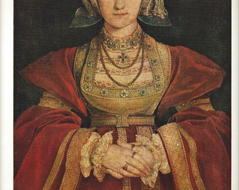 Metropolitan Museum of Art - Lithograph - Anne of Cleves - Holbein the Younger - Plate 56