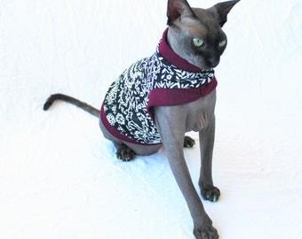 "Designer Cat Shirt ""Marooned"" Summerweight Cat Clothing"