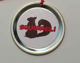 """Christmas Vacation Ornament - Funny Movie Quote: """"Squirrel!"""""""