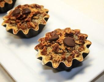 "German Chocolate Pecan Pie, Mini Pie - 1/2 dozen of 3"" mini pies"