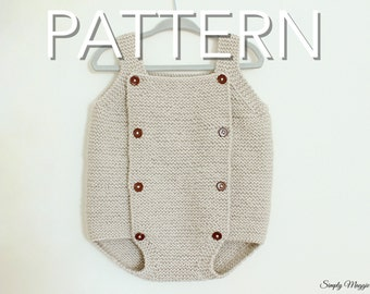 Baby Romper PDF Pattern // Advance Beginner Pattern // Knit Romper // simply maggie