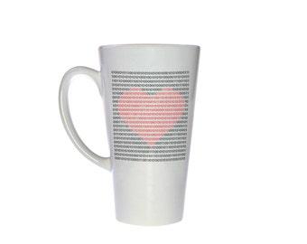 Binary Heart Tall Latte - Coffee or Tea Mug - Geek Love Gift