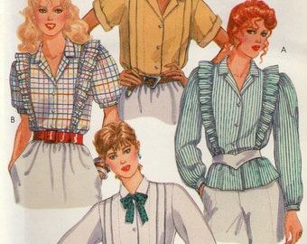 Misses Nursing Blouses, Buttoned and with Concealed Opening, McCall's 9132, Size 8,  Uncut Vintage Pattern