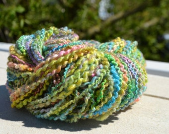 """Skein of hand spun wool"" multicolor """