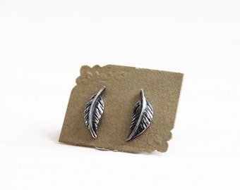 Sterling Silver Feather Post Earrings. Delicate Statement Earrings. Ethereal Jewelry. Feather Jewelry. Nature Jewelry. Spiritual. Freedom.