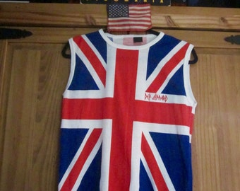 Def Leppard Union Jack Sleeveless T-Shirt