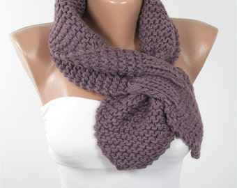 Knitted Bow Scarf Ascot Neck Warmer Winter Scarf Women Fashion Accessories Cozy Scarf Warm Scarf Christmas Gift Ideas For Her For Mom