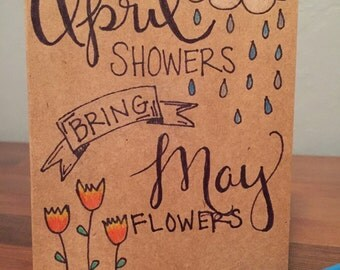 Greeting Card - April Showers Bring May Flowers