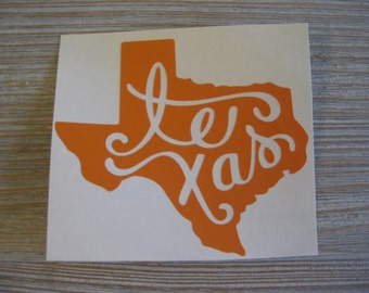 Texas State Car Decal - Texas Car Decal - Car Decal Texas - Monogram Decal - Car Decal - Car Decal Texas - Hometown State Decal - Texas